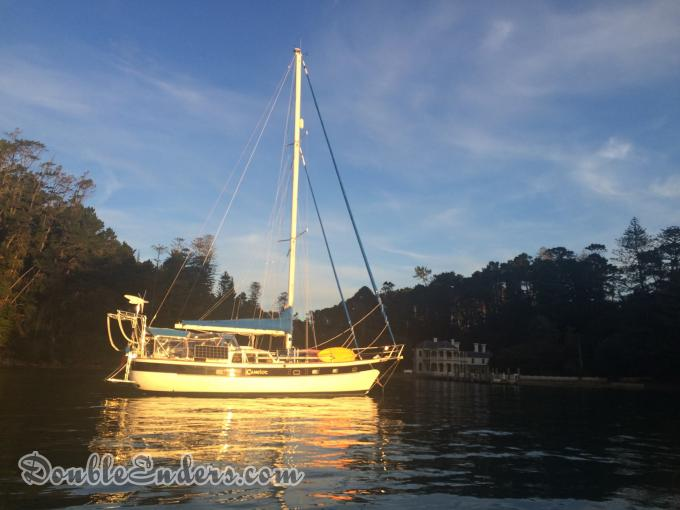 At anchor at Mansion House Bay, Kawau Island