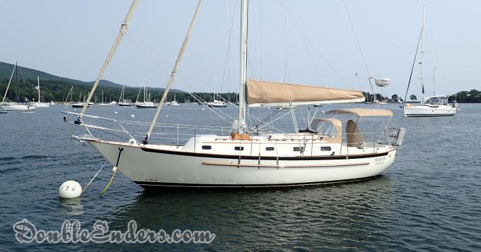Pacific Seacraft sailboat, mooring, Camden, ME