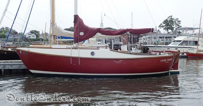 Canoe stern sloop, sailboat, Camden, Maine