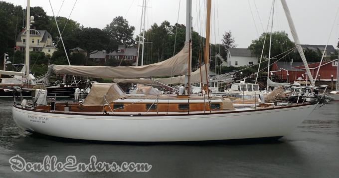wooden boat, canoe stern, Camden, ME