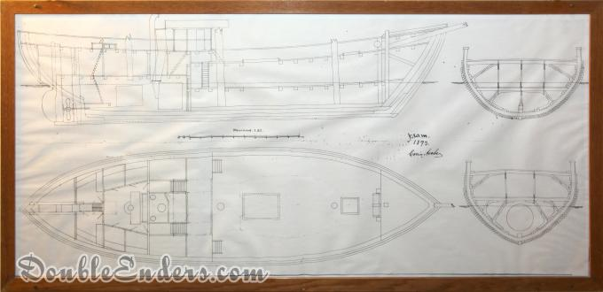 engineering drawings of a sailboat