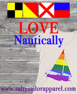 www.saltysailorapparel.com Love Nautically T-shirts