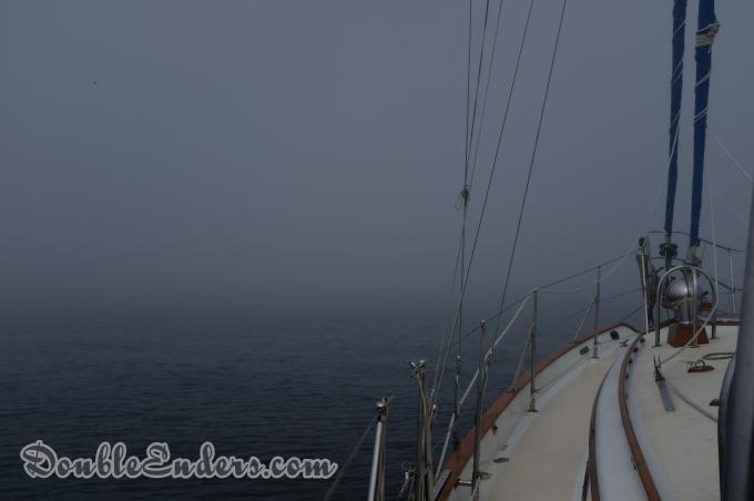 Tayana 37, sailboat, fog