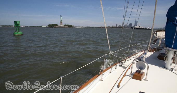 Bear, Tayana 37, sailboat, Statue of Liberty, NYC