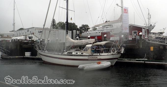Lafitte 44 sailboat, Camden, Maine, canoe stern