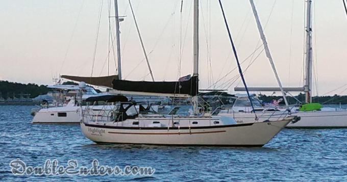sailboat, mooring, Pacific Seacraft