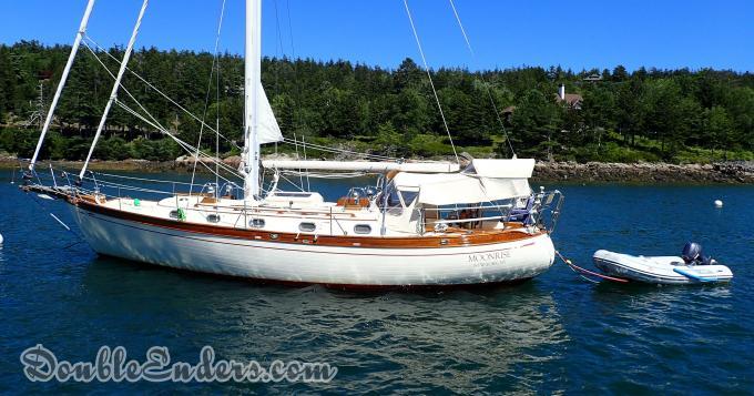 sailboat, Tashiba 40, mooring, canoe stern, maine